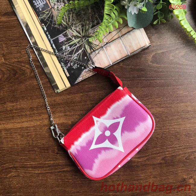 Louis vuitton ESCALE POCHETTE ACCESSOIRES Mini clutch bag M69269 red