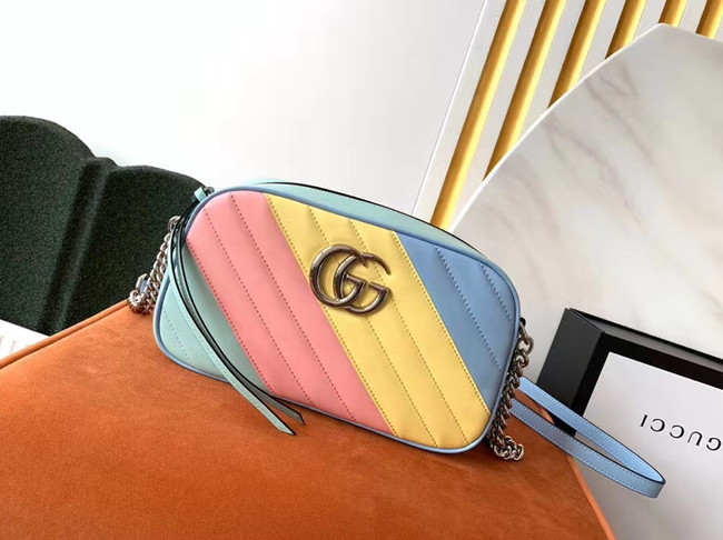 Gucci GG Marmont Matelasse Shoulder Bag 447632 Multicolored
