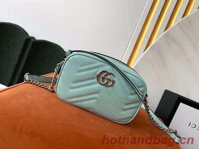 Gucci GG Marmont Matelasse samll Shoulder Bag 447632 Pastel green