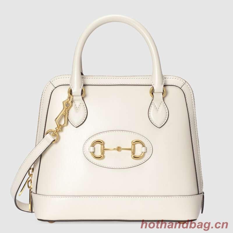 Gucci 1955 Horsebit small top handle bag 621220 White