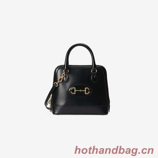 Gucci 1955 Horsebit small top handle bag 621220 black