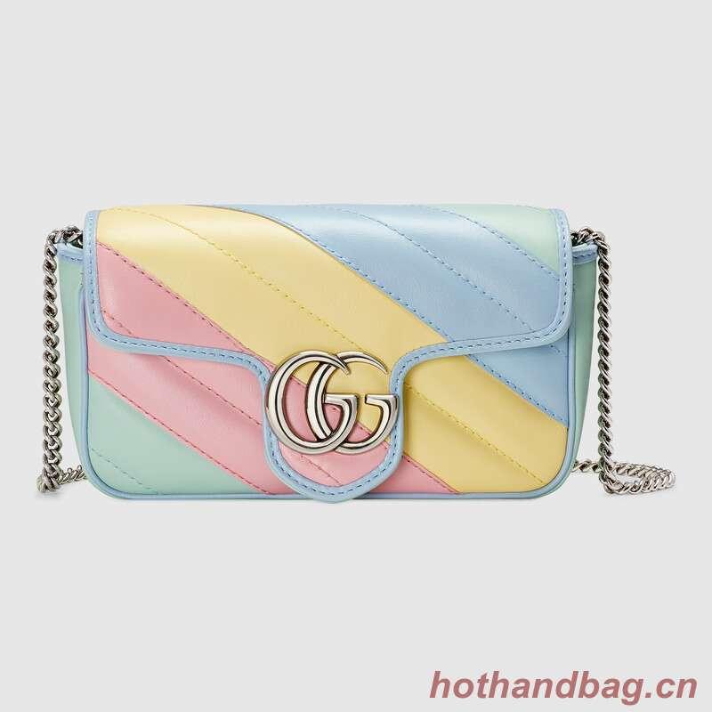 Gucci GG Marmont super mini bag 476433 Multicolored pastel
