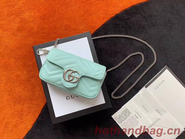 Gucci GG Marmont super mini bag 476433 Pastel green