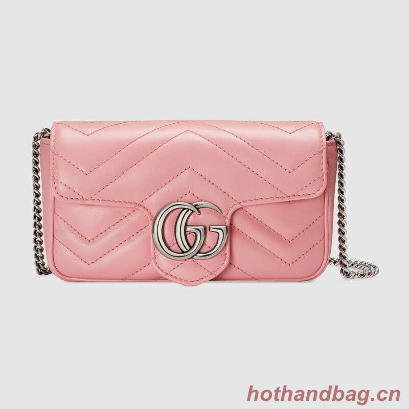 Gucci GG Marmont super mini bag 476433 Pastel pink