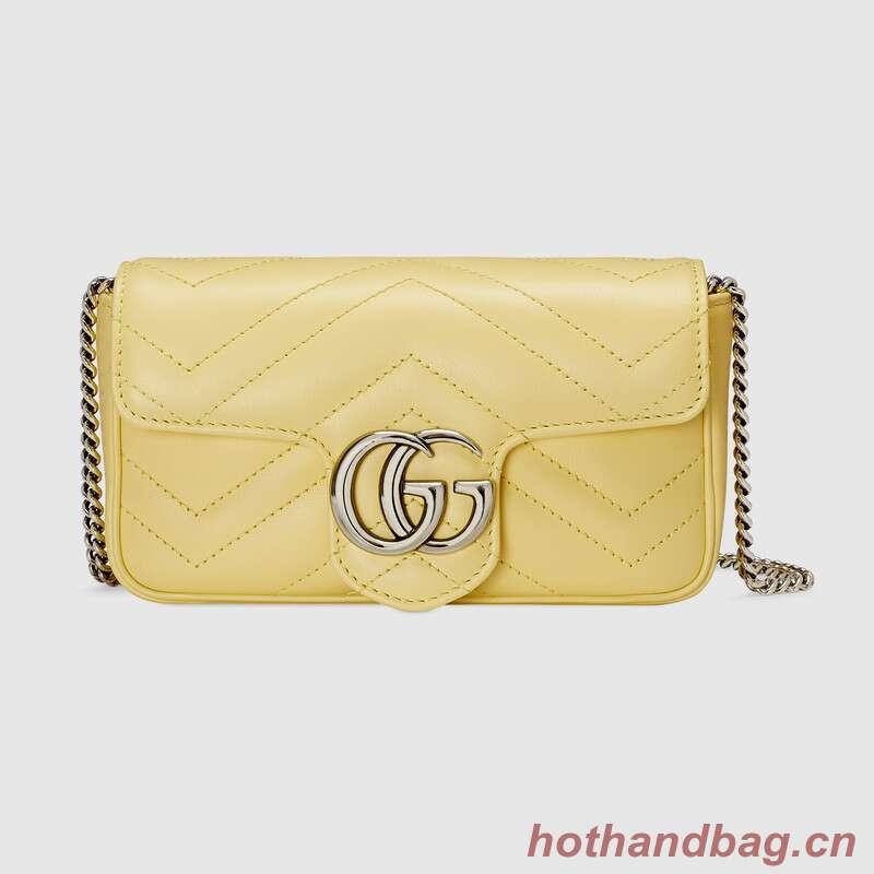 Gucci GG Marmont super mini bag 476433 Pastel yellow