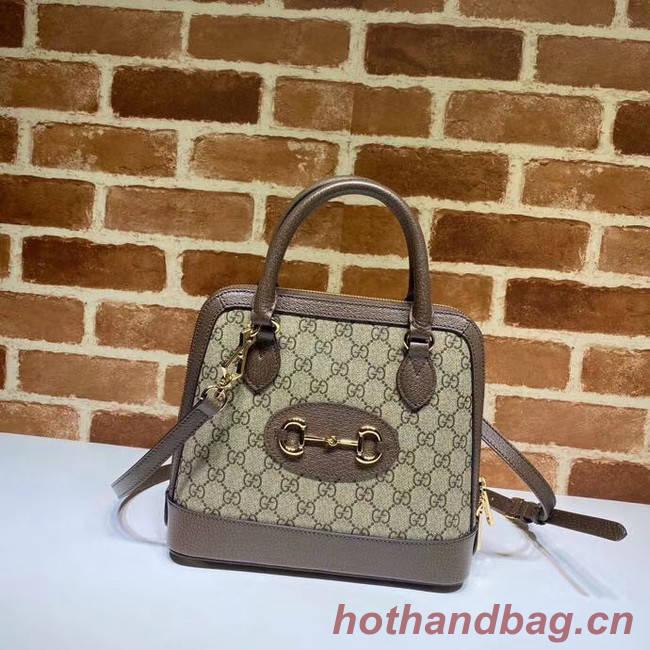 Gucci GG Supreme Canvas Top Handle Bag 621220 Khaki