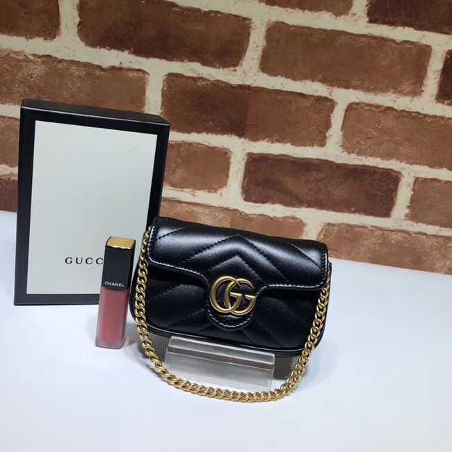 Gucci GG Marmont super Clutch bag 575161 black
