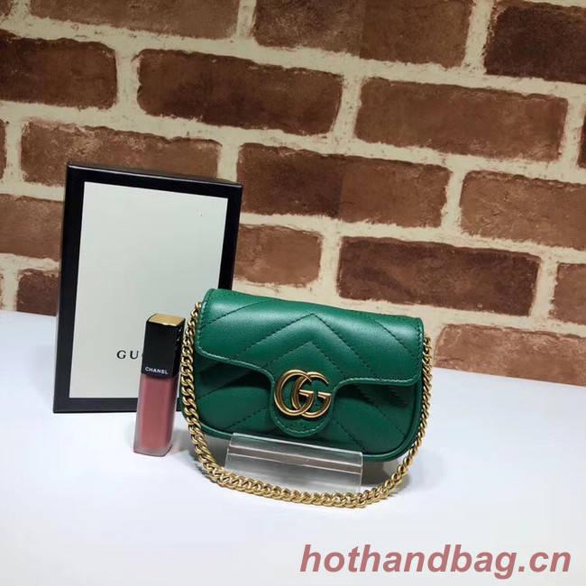 Gucci GG Marmont super Clutch bag 575161 green