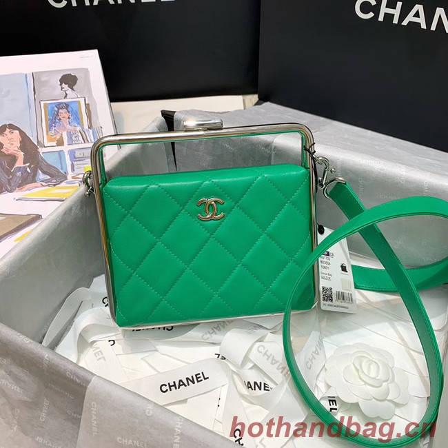 Chanel Original Sheepskin Leather clutch bag AS1732 green