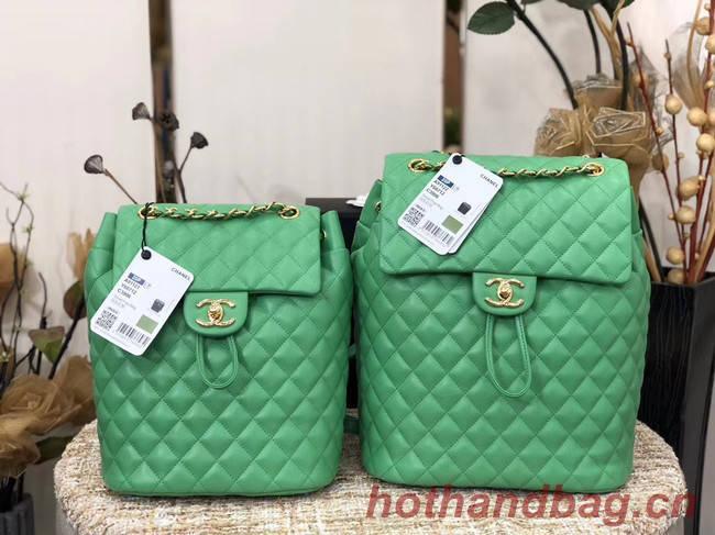 Chanel Backpack Sheepskin Original Leather 83431 green
