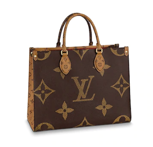 Louis vuitton original ONTHEGO Monogram Reverse Medium tote bag M45321