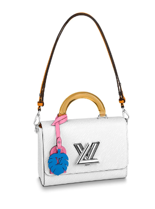 Louis vuitton original TWIST Medium tote bag M56132 white