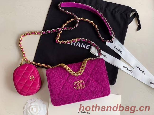 CHANEL 19 Flap Bag WOC 33817 Lavender