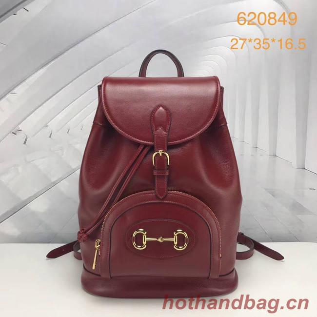 Gucci 1955 Horsebit backpack 620849 red