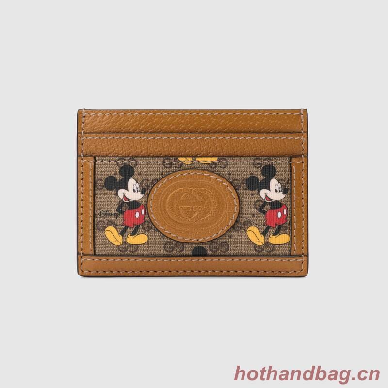 Gucci Disney x card case 602535 brown
