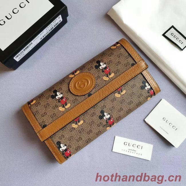 Gucci Disney x continental wallet 602530 brown