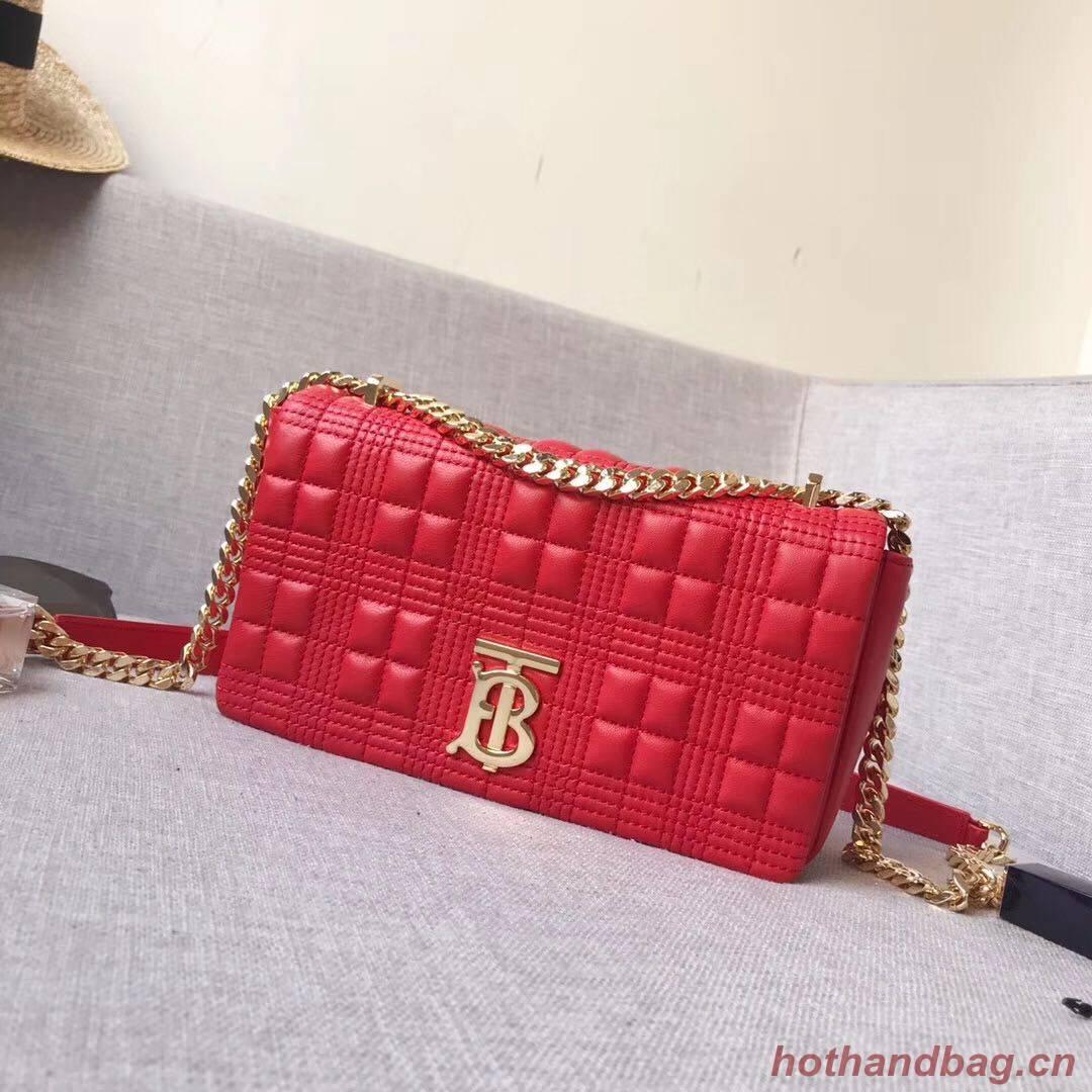 BurBerry Leather Shoulder Bag 7462 red