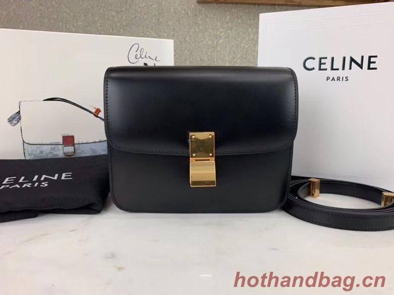 Celine Classic Box Teen Flap Bag Original Calfskin Leather 3379 Black