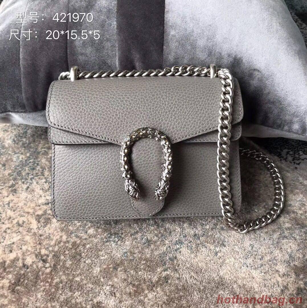 Gucci Dionysus Lichee Pattern Mini Shoulder Bag 421970 grey