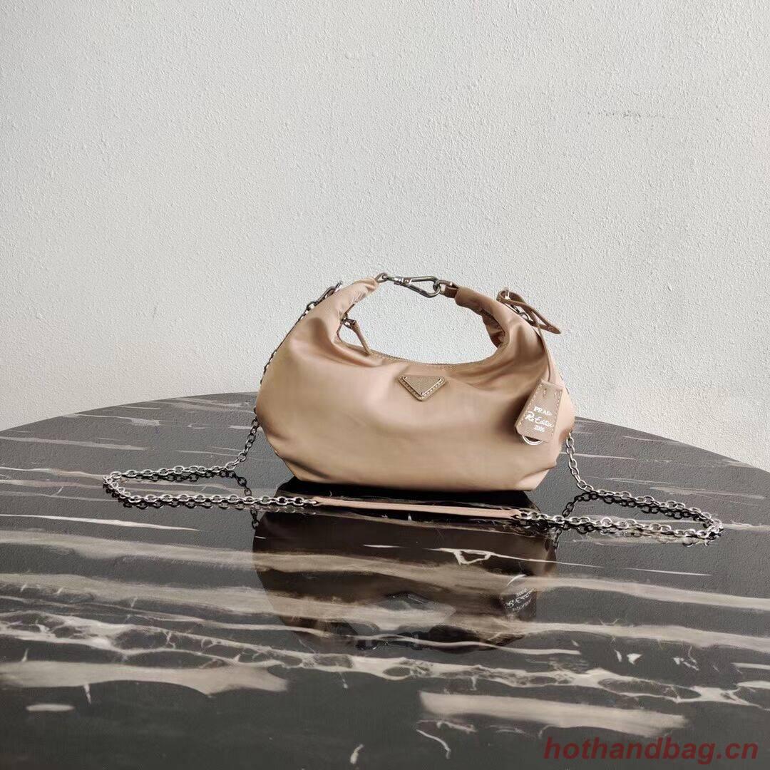 Prada Re-Edition 2005 nylon shoulder bag 1BH172 apricot
