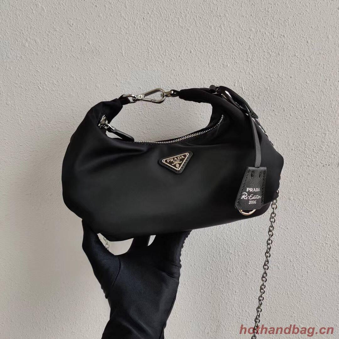 Prada Re-Edition 2005 nylon shoulder bag 1BH172 black