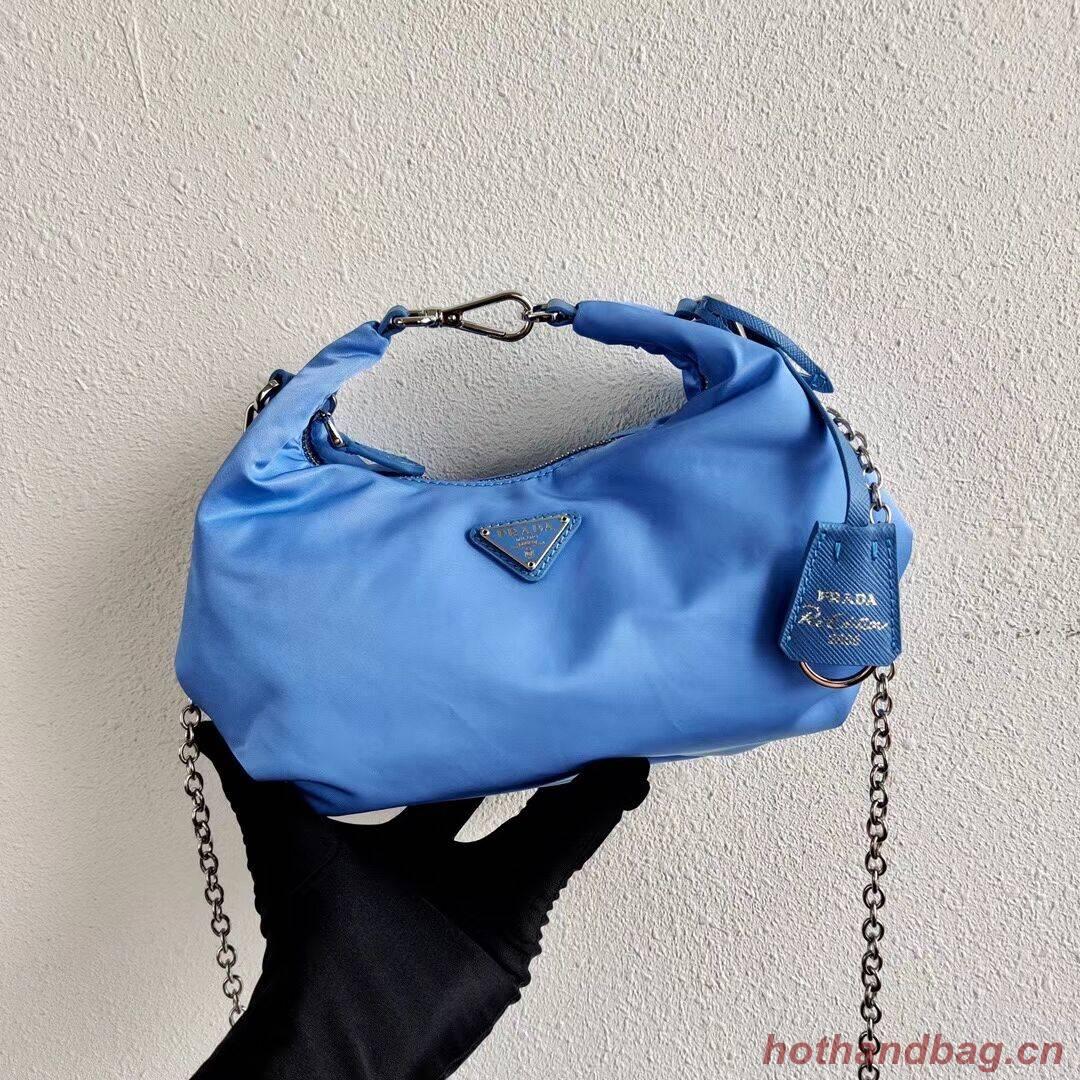 Prada Re-Edition 2005 nylon shoulder bag 1BH172 blue