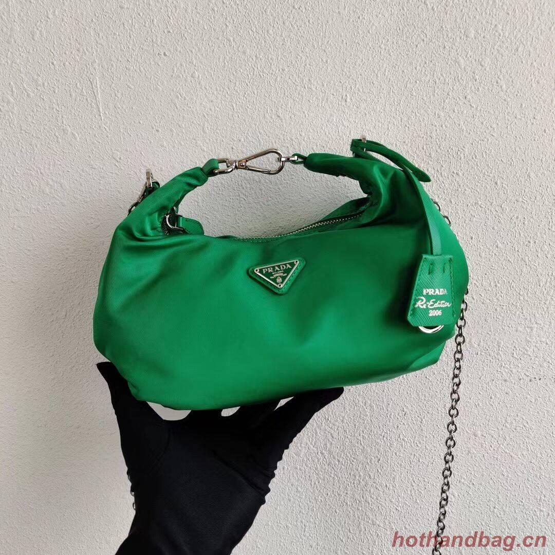 Prada Re-Edition 2005 nylon shoulder bag 1BH172 green