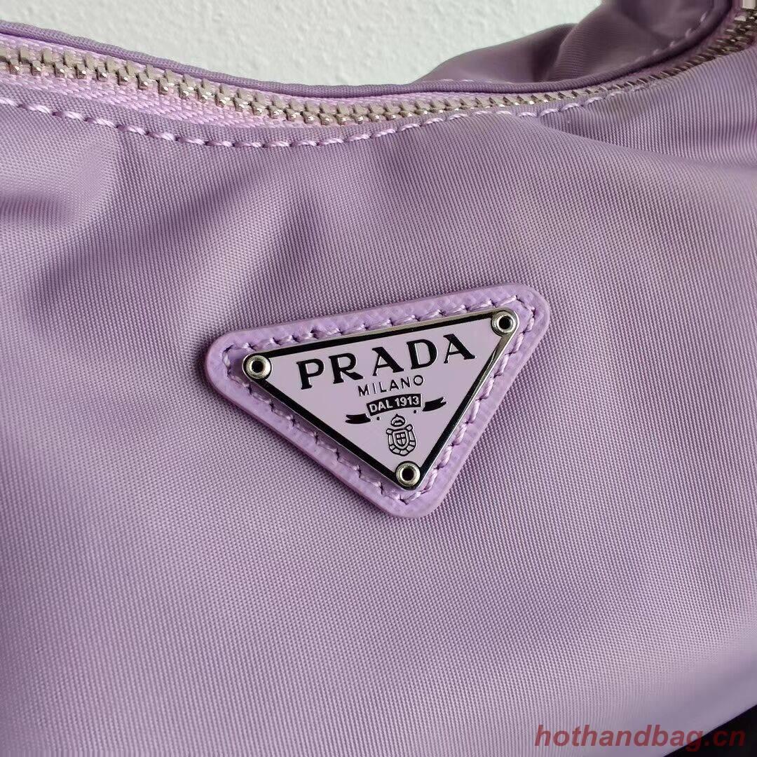 Prada Re-Edition 2005 nylon shoulder bag 1BH172 lilac