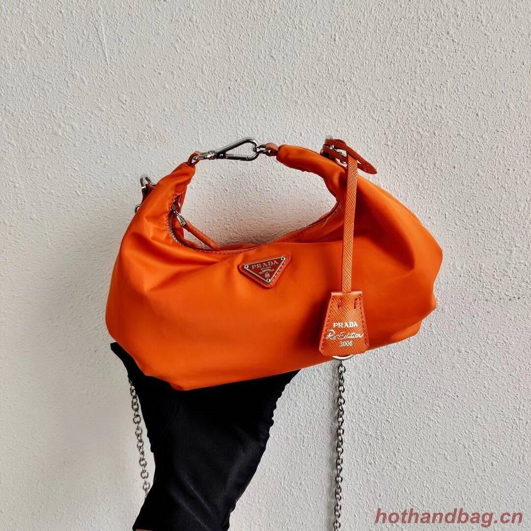 Prada Re-Edition 2005 nylon shoulder bag 1BH172 orange