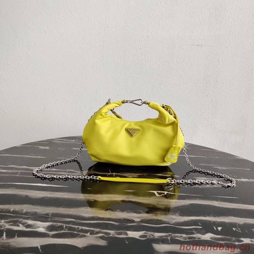 Prada Re-Edition 2005 nylon shoulder bag 1BH172 yellow
