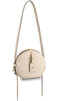 Louis Vuitton Monogram Empreinte BOITE CHAPEAU SOUPLE M45276 ivory