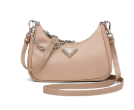 Prada Re-Edition nylon mini shoulder bag 1TT122  apricot