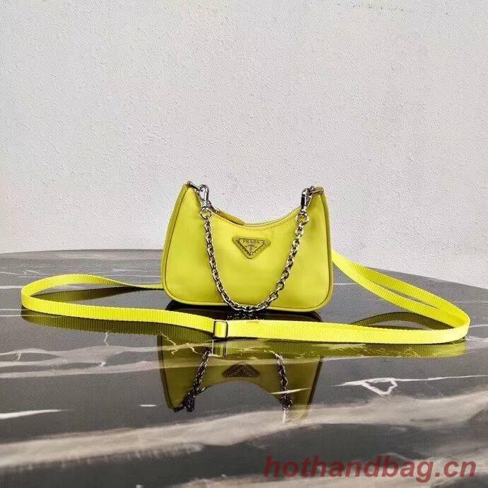 Prada Re-Edition nylon mini shoulder bag 1TT122 yellow