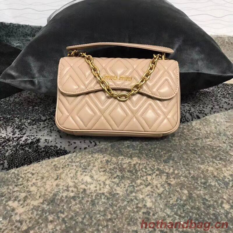 miu miu Matelasse Nappa Leather shoulder bag 5BD140G pink