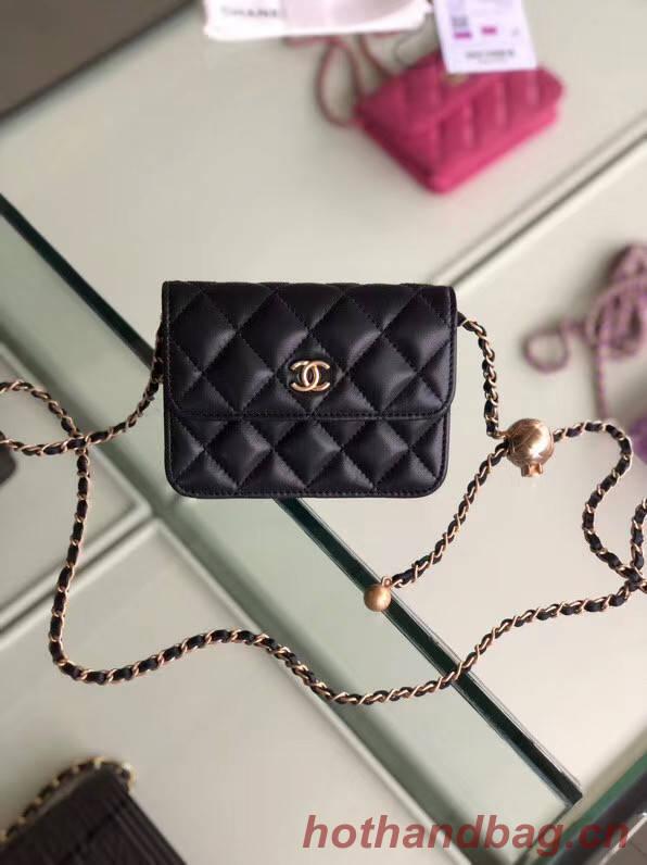 Chanel Sheepskin Original Leather Pocket AP1461 black