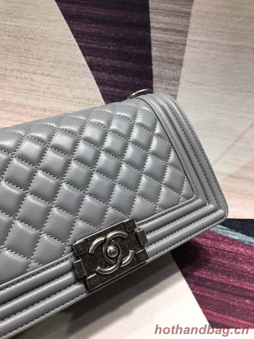 CHANEL Le Boy Flap Bag A67086 Gray