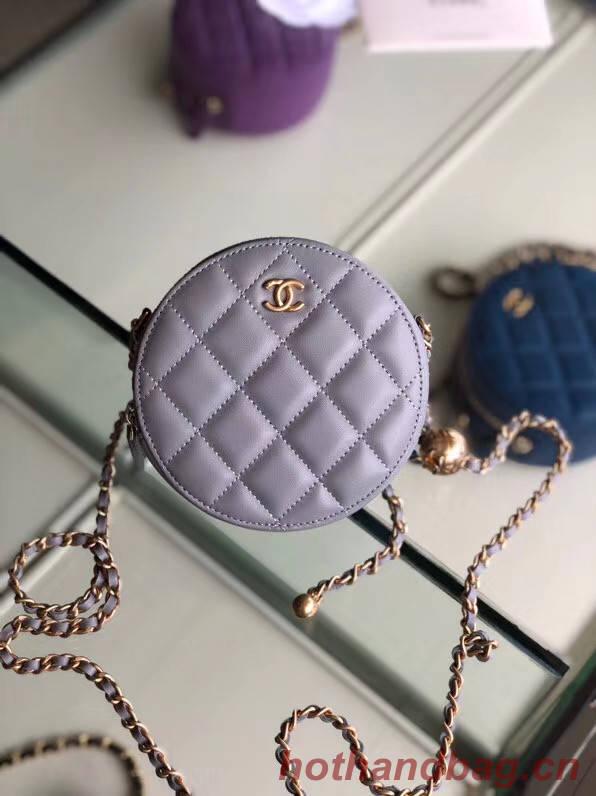 Chanel Original mini Sheepskin bag AS1449 grey