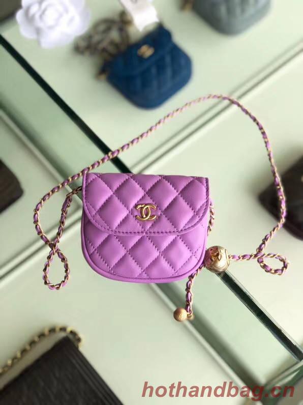 Chanel Sheepskin Original Leather Pocket AP1461 Lavender