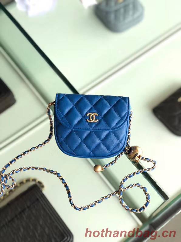 Chanel Sheepskin Original Leather Pocket AP1461 blue