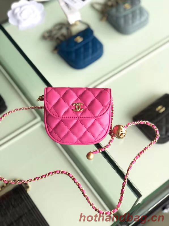 Chanel Sheepskin Original Leather Pocket AP1461 rose