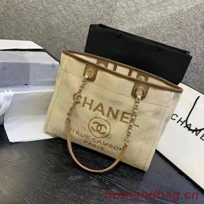 Chanel Large Shoulder Bag A67001 Cream