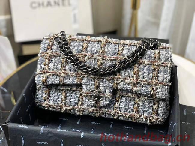 Chanel Original flap bag Twill soft A01112 grey