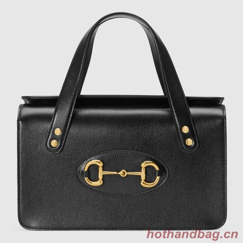 Gucci Horsebit 1955 small top handle bag 627323 black