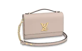 Louis Vuitton Original Grain calfskin LOCKME CLUTCH M56087 Taupe