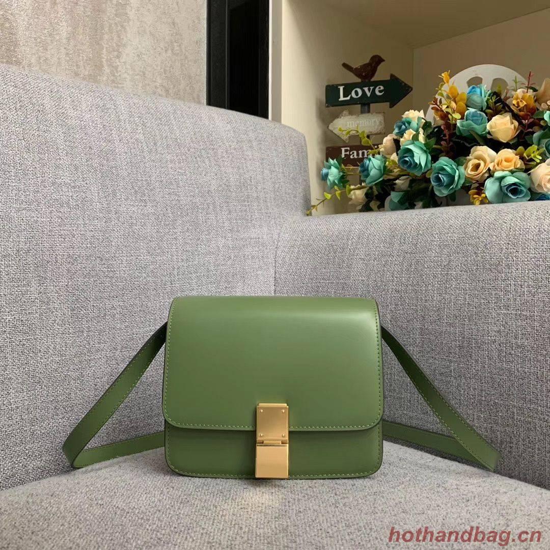 Celine Classic Box Teen Flap Bag Original Calfskin Leather 3379 Green