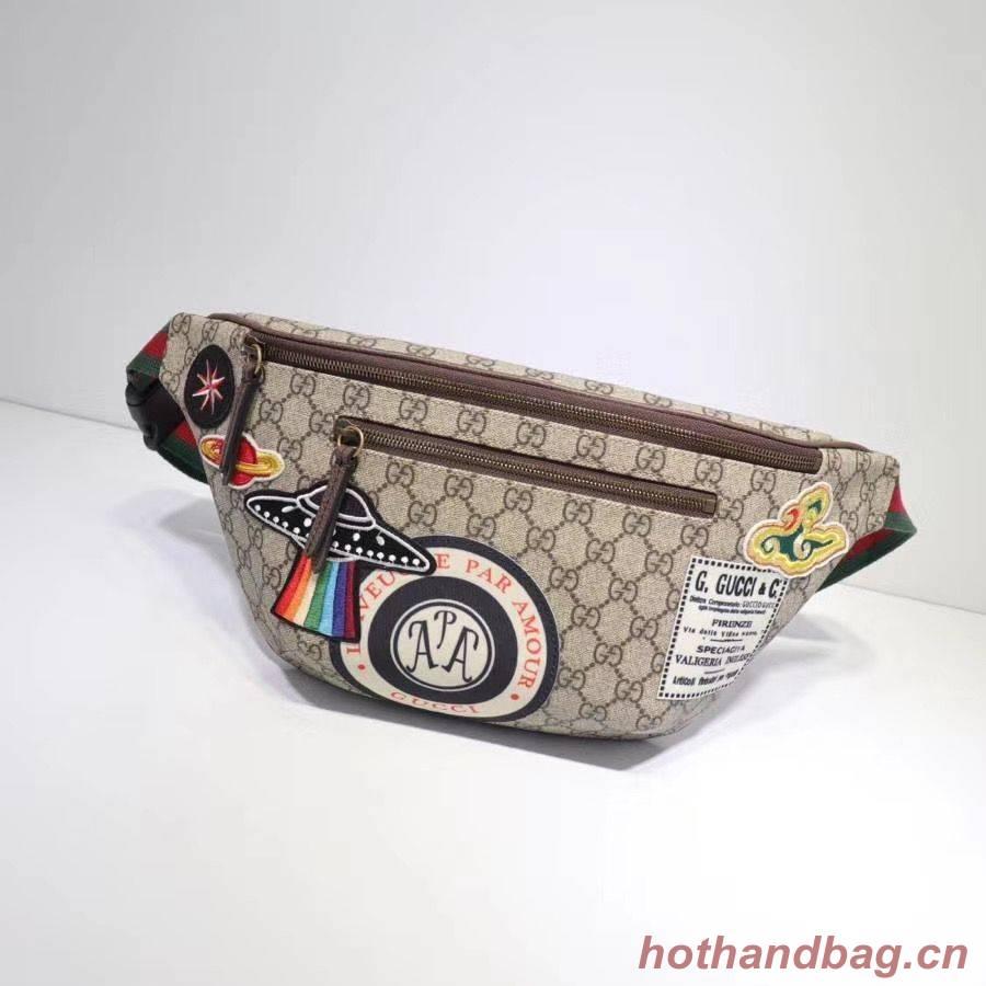 Gucci Night Courrier soft GG Supreme Original Qaility belt bag 529711 brown