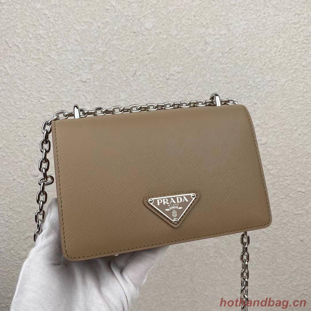 Prada Saffiano leather mini shoulder bag 2BD032 apricot