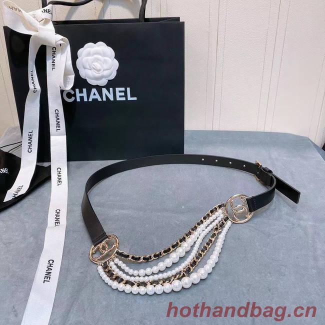 Chanel Calf Leather Belt 56612 black