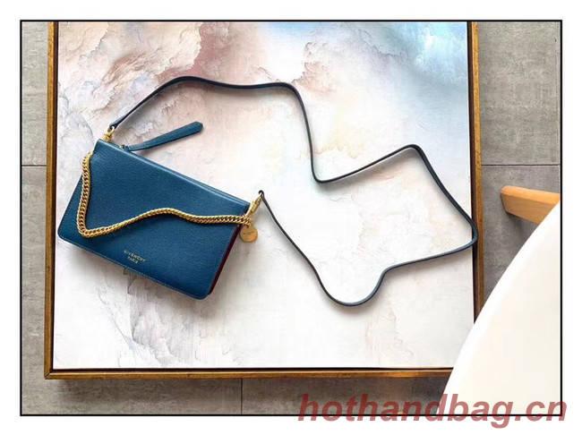GIVENCHY leather and suede shoulder bag 9337 blue