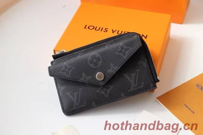 Louis vuitton original Monogram Eclipse CARD HOLDER M60167 black